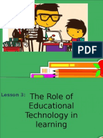 Roles of Educational Technology in learning