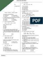 Practice Test Acids Bases