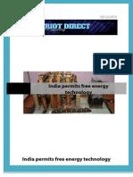 India Permits Free Energy Technology