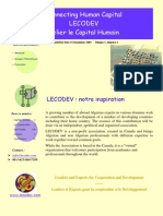 LECODEV Newsletter Issue1 Décembre 2009