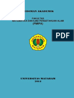 Pedoman Akademik FMIPA Unram 2014