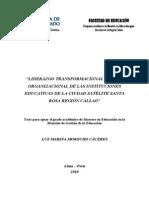 2010 Morocho Liderazgo Transformacional y Clima Organizacional de Las Intituciones Educativas de La Ciudad Satélite Santa Rosa Región Callao