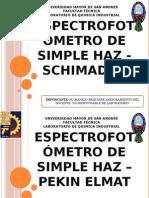 Espectrofotómetro de Simple Haz - Schimadzu