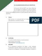 Protocolo Para La Elaboración de Artículos Científicos