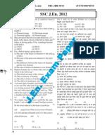 SSC JEN-2012 Mechanical Objective Paper