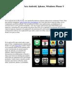 Bajar Aplicación Para Android, Iphone, Windows Phone Y computador