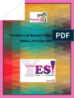 District Newsletter October 2015 (French)