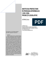 Institutia prefecturii in perioada interbelica