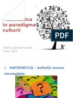 Matematica in Paradigma Culturii