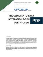 Procedimiento Para Instalacion de Puerta Cortafuego (Pet)