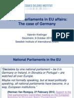 National Parliaments in EU affairs