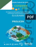 PROLICEN_VII Congresso de Pesquisa Ensino e Extensao-Conhecimento e Desenvolvimento Sustentavel