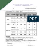Tabela Tarifária e Preços Serviços Julho 2014 - Municípios Regulados Pela AGERGS-1