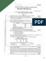 06ME668 Operations Management New Scheme June 2011
