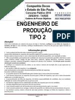 Codesp Engenheiro de Produção Tipo 2