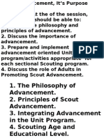 2 Advancement Session 2 - Scout Advancement and Its Purpose