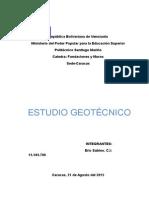 Trabajo Estudio Geotecnico - Copia