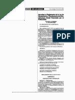 Ds 005-2000-Pres Reglamento de La Ley de Saneamiento y Transferencia de Infraestructura Social Financiada Por El Foncodes Ley 27171