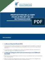 Propositions Fiscales de La CGEM (PLF2016