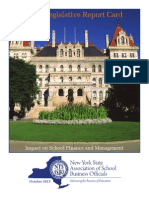 NYSASBO Legislative Report Card