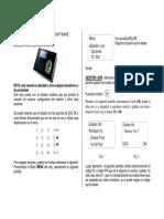 Manual de Uso Para Terminales ZKSoftware
