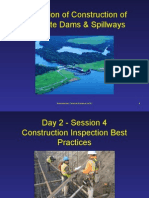 Construction Inspection of Concrete Dams and Spillway