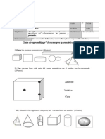 Guía de Los Cuerpos Geométricos Para Segundo Año ,Agosto 2015