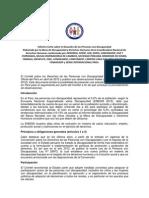 Informe Corto sobre la Situación de las Personas con Discapacidad - 2015