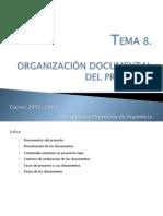 Presentación Clase_TEMA 8. Organización Documental Del Proyecto
