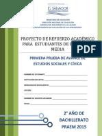 Primera Prueba de Avance de Estudios Sociales - Segundo Ao de Bachilllerato - Praem 2015