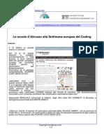 Le scuole d'Abruzzo alla settimana europea del coding - Wordpress dell'8 ottobre 2015