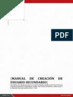 MANUAL de Creacion de Usuarios Secundarios VUCE 2015