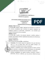 Ley de Mecanismos de Retribución Por Servicios Ecosistémicos (I)