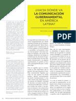 Hacia donde va la Comunicación Gubernamental en América Latina