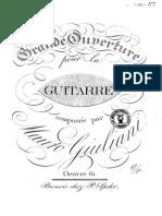 Giuliani, M. Op. 61. Grande Ouverture ... 1