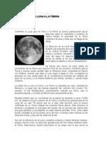 Como Afecta La Luna a La Tierra
