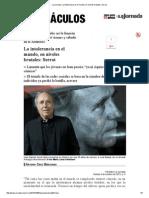La Jornada_ La Intolerancia en El Mundo, En Niveles Brutales_ Serrat