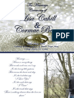 lisa and cormac wedding booklet