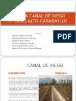 Visita a Canal de Riego 2015