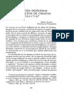 Gosner. Las Elites Indígenas en Los Altos de Chiapas