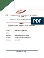 Monografia Doctrinas Del Código Civil Peruano 2
