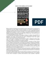 La Estafa Del Modelo Neoliberal en El Perú