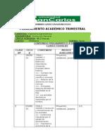 Planificación Académica Zootecnia General 2015