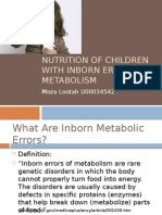 Nutrition of Children With Inborn Errors of Metabolism