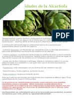Mitos y Realidades de La Alcachofa