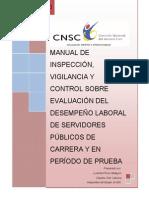 Manual de Inspeccion, Vigilancia y Control Sobre Evaluacion Del Desempeno