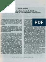 La Importancia Del Metodom Historico en La Elaboracionde Las Categorias Economicas