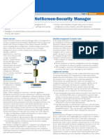 Netscreen Security Manager Datasheet