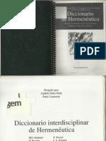 História Da Hermenêutica-Verbete Diccionário de Hermenéutica.