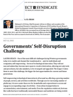 Governments' Self-Disruption Challenge by Mohamed A